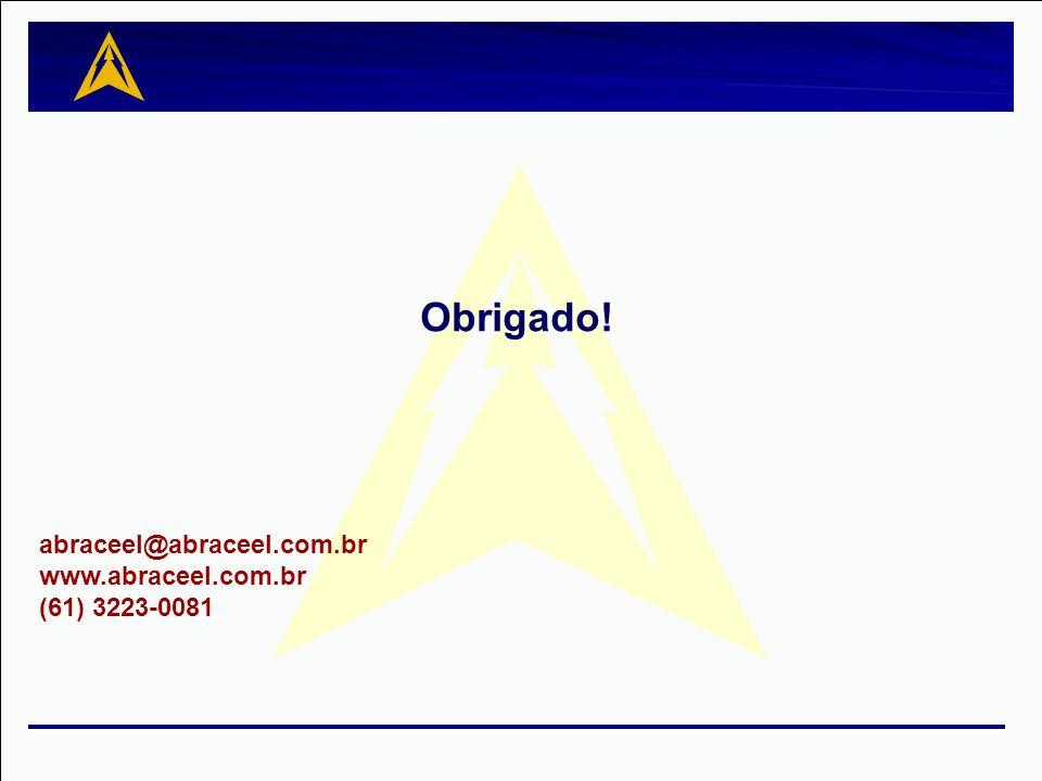 Obrigado! abraceel@abraceel.com.br www.abraceel.com.br (61) 3223-0081