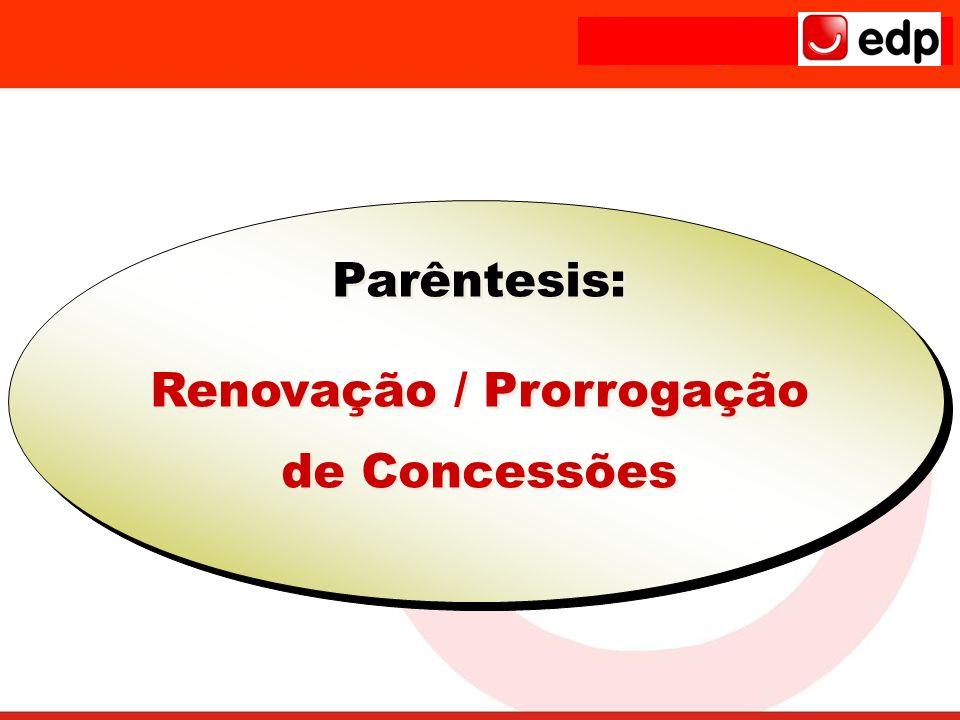 Renovação / Prorrogação de Concessões