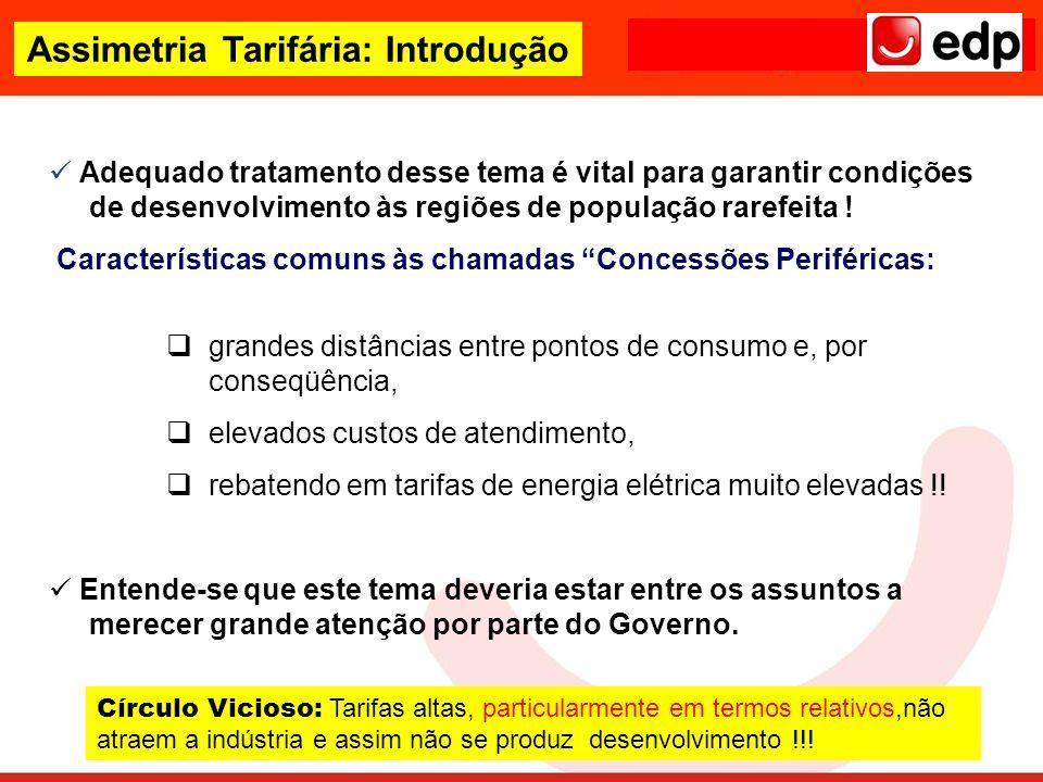 Assimetria Tarifária: Introdução
