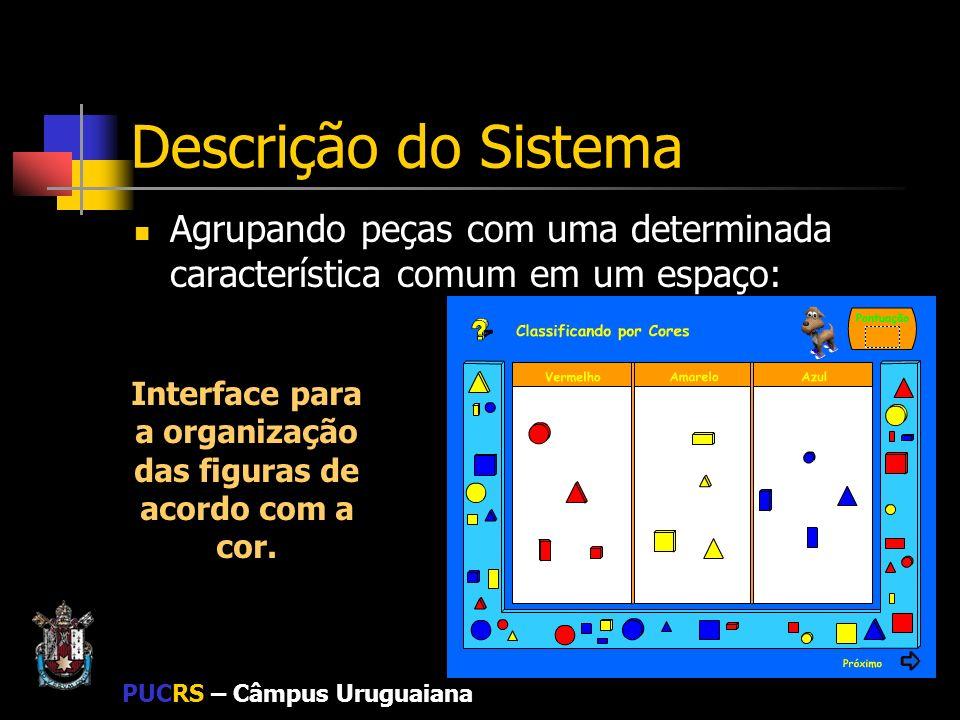 Interface para a organização das figuras de acordo com a cor.