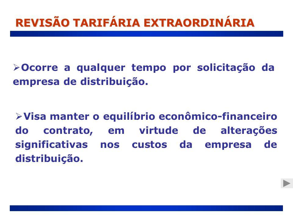 REVISÃO TARIFÁRIA EXTRAORDINÁRIA