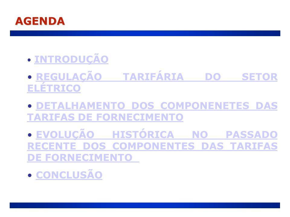 AGENDA REGULAÇÃO TARIFÁRIA DO SETOR ELÉTRICO