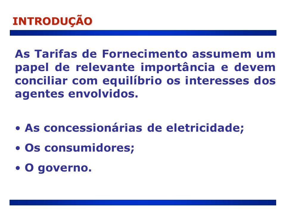 As concessionárias de eletricidade; Os consumidores; O governo.