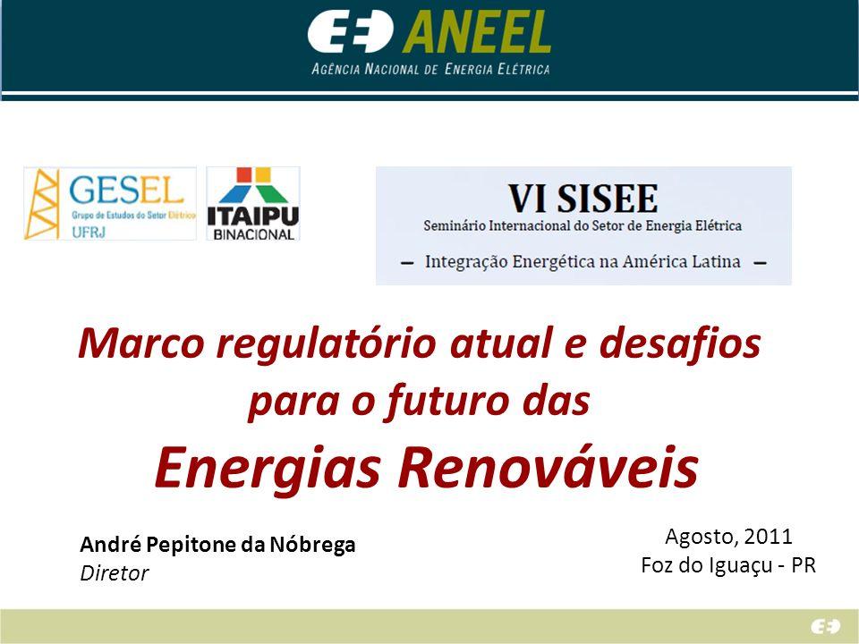 Marco regulatório atual e desafios para o futuro das