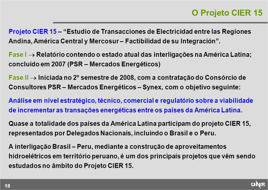 O Projeto CIER 15