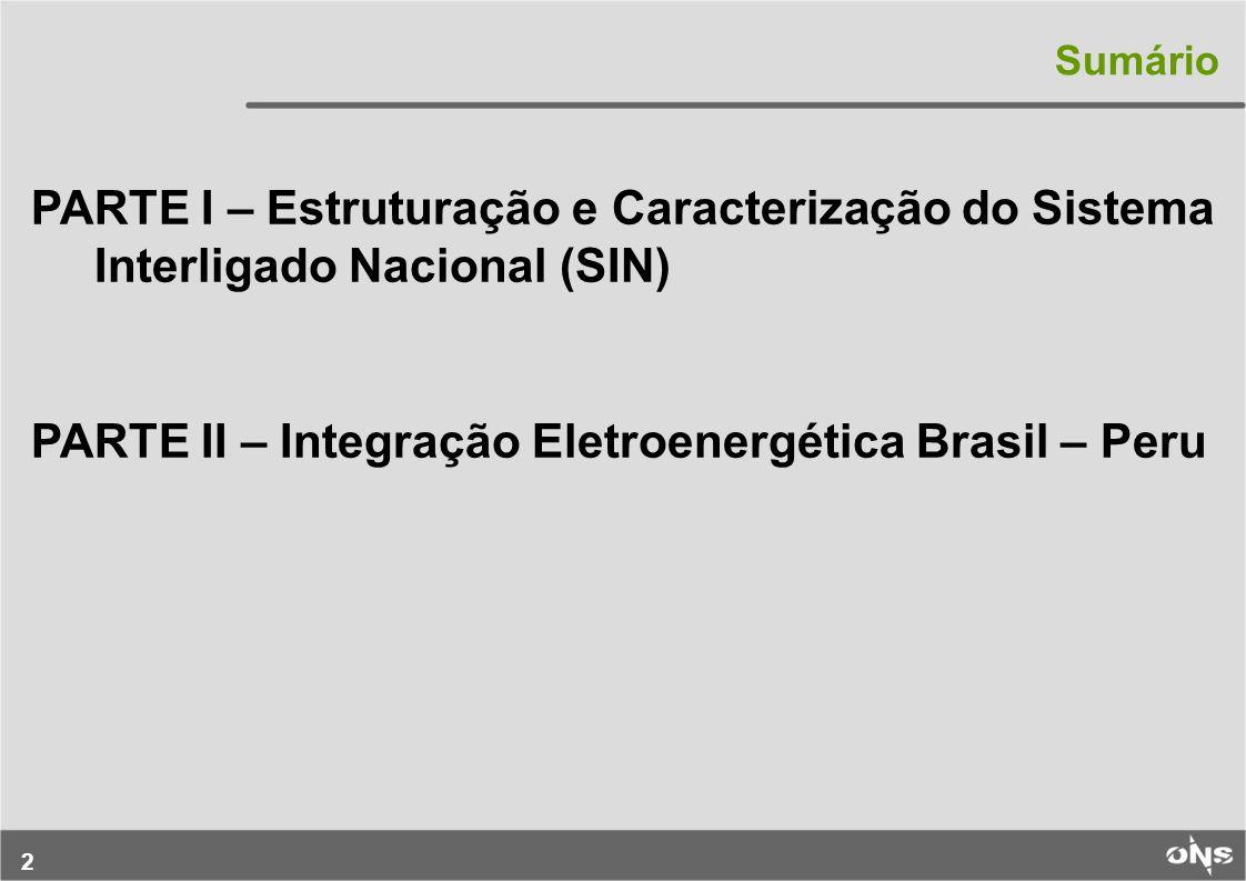 PARTE II – Integração Eletroenergética Brasil – Peru