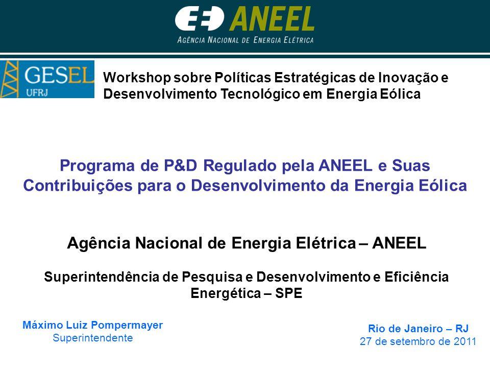 Agência Nacional de Energia Elétrica – ANEEL Máximo Luiz Pompermayer