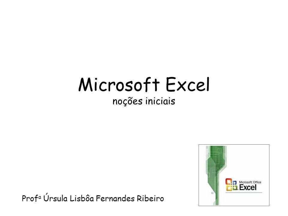 Microsoft Excel noções iniciais