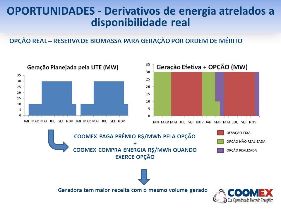 OPORTUNIDADES - Derivativos de energia atrelados a disponibilidade real