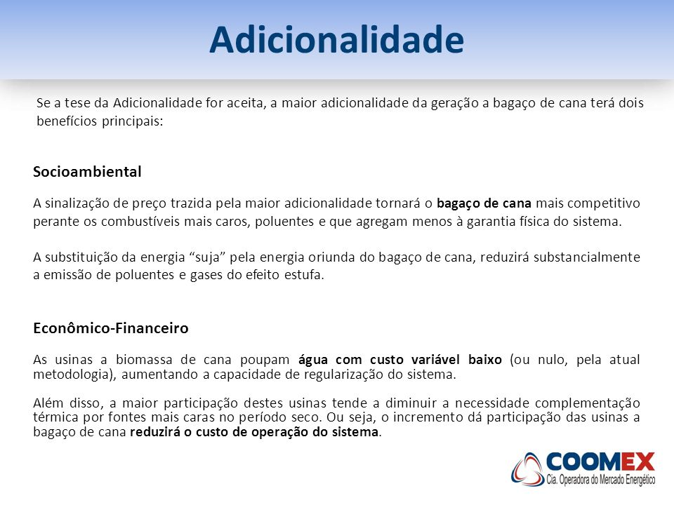 Adicionalidade Socioambiental Econômico-Financeiro