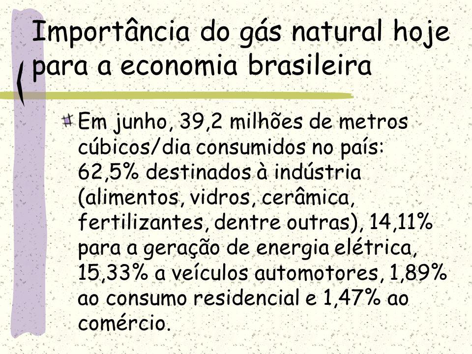 Importância do gás natural hoje para a economia brasileira