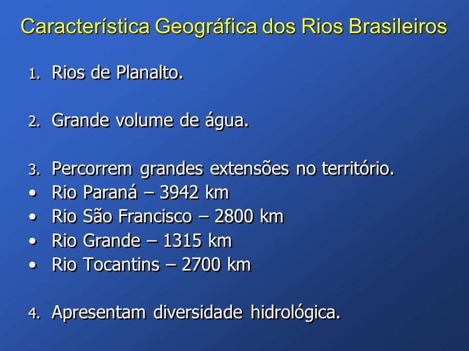 Característica Geográfica dos Rios Brasileiros