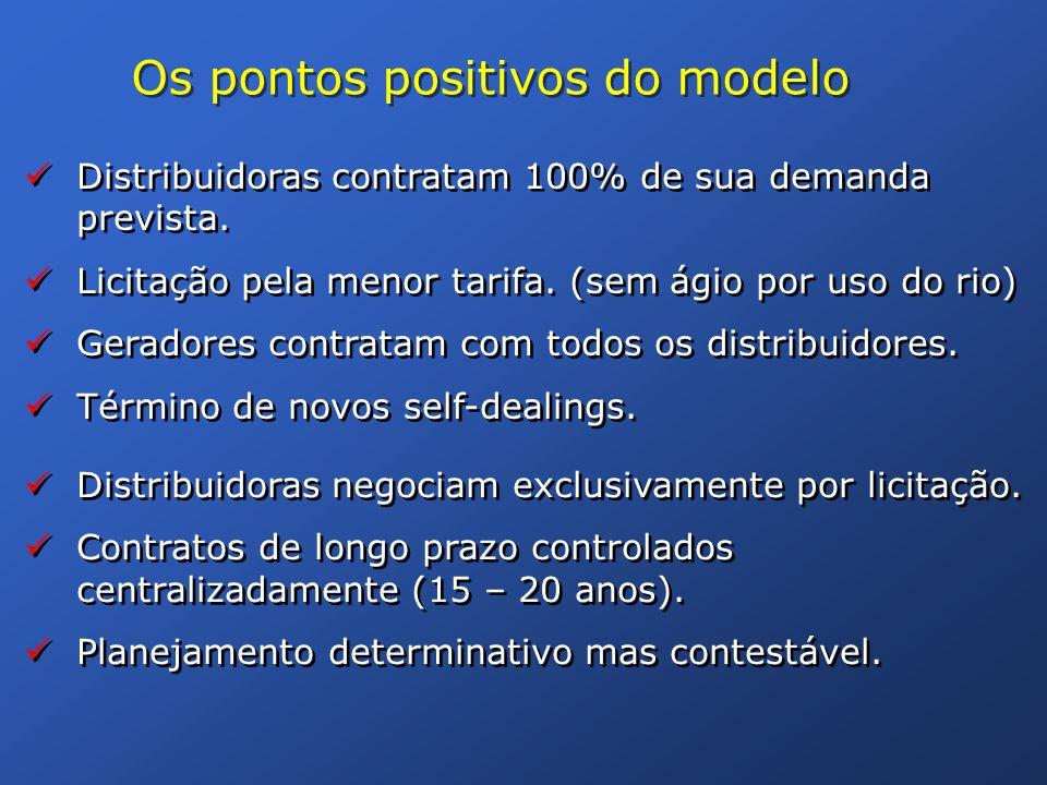 Os pontos positivos do modelo