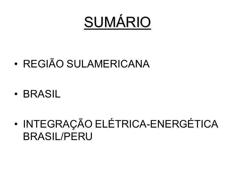 SUMÁRIO REGIÃO SULAMERICANA BRASIL