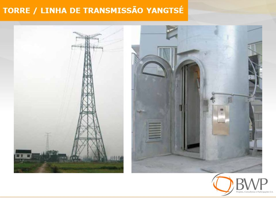 TORRE / LINHA DE TRANSMISSÃO YANGTSÉ