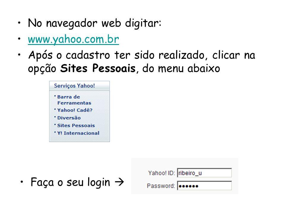 No navegador web digitar: