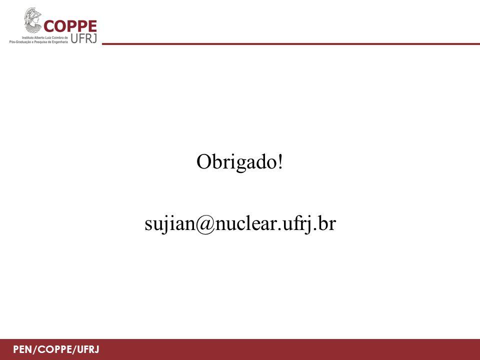 Obrigado! sujian@nuclear.ufrj.br