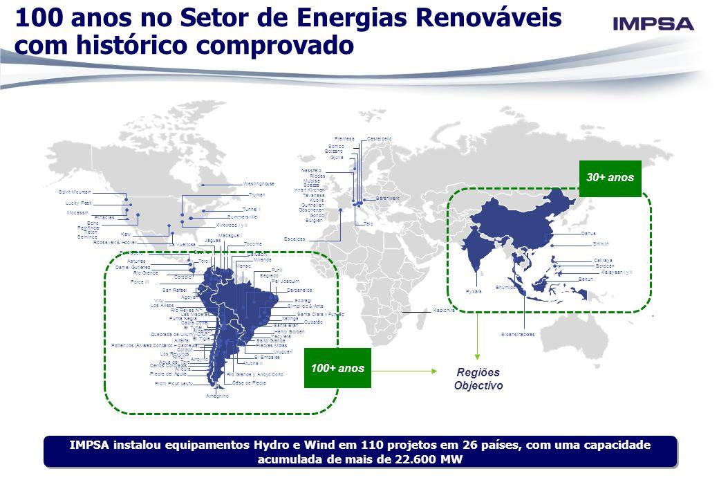 100 anos no Setor de Energias Renováveis com histórico comprovado
