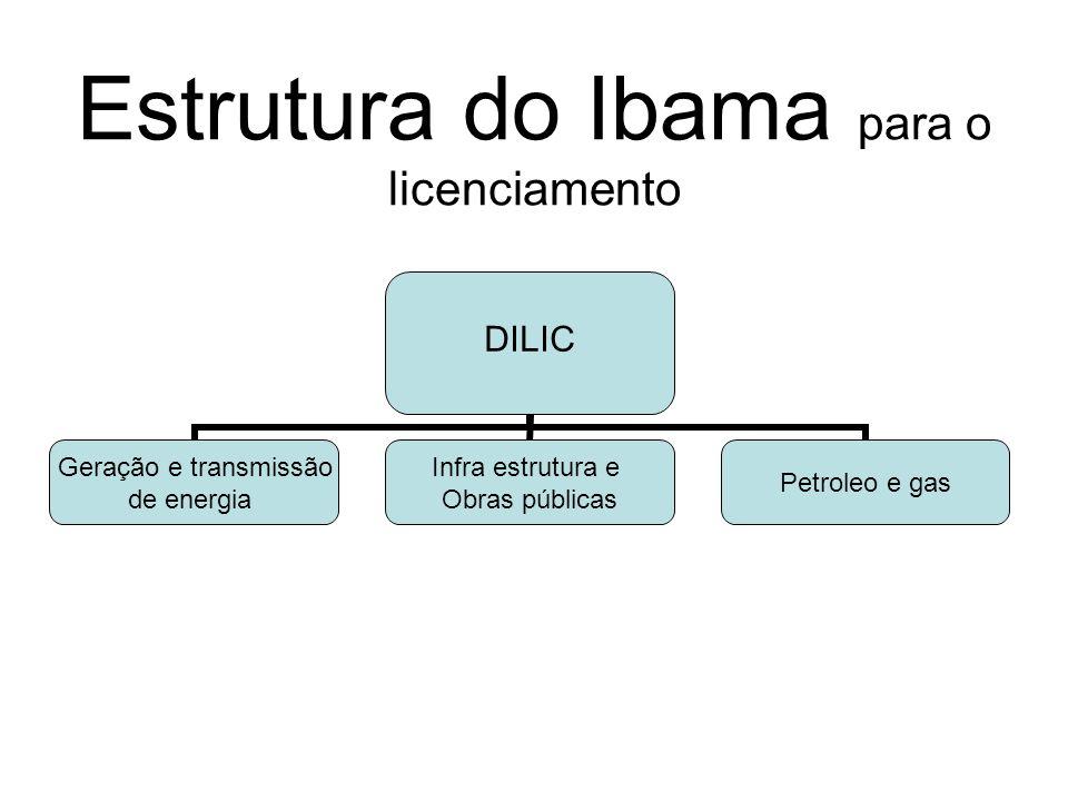 Estrutura do Ibama para o licenciamento