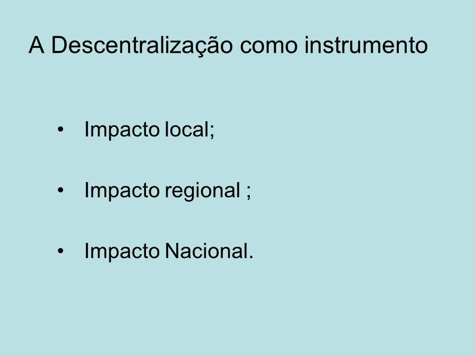 A Descentralização como instrumento
