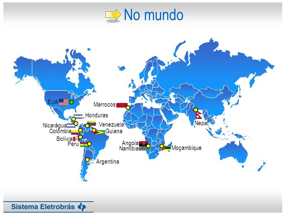 No mundo Argentina Peru Venezuela Nicarágua Bolívia Colômbia Honduras
