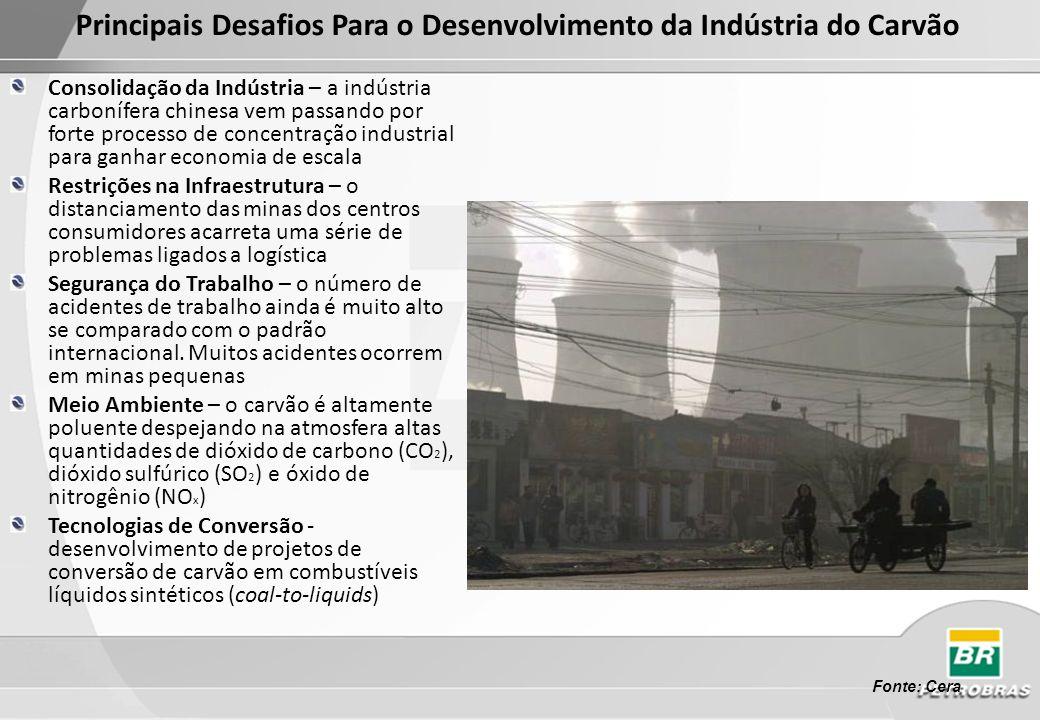 Principais Desafios Para o Desenvolvimento da Indústria do Carvão