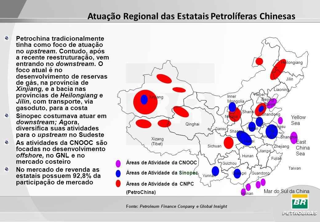 Atuação Regional das Estatais Petrolíferas Chinesas