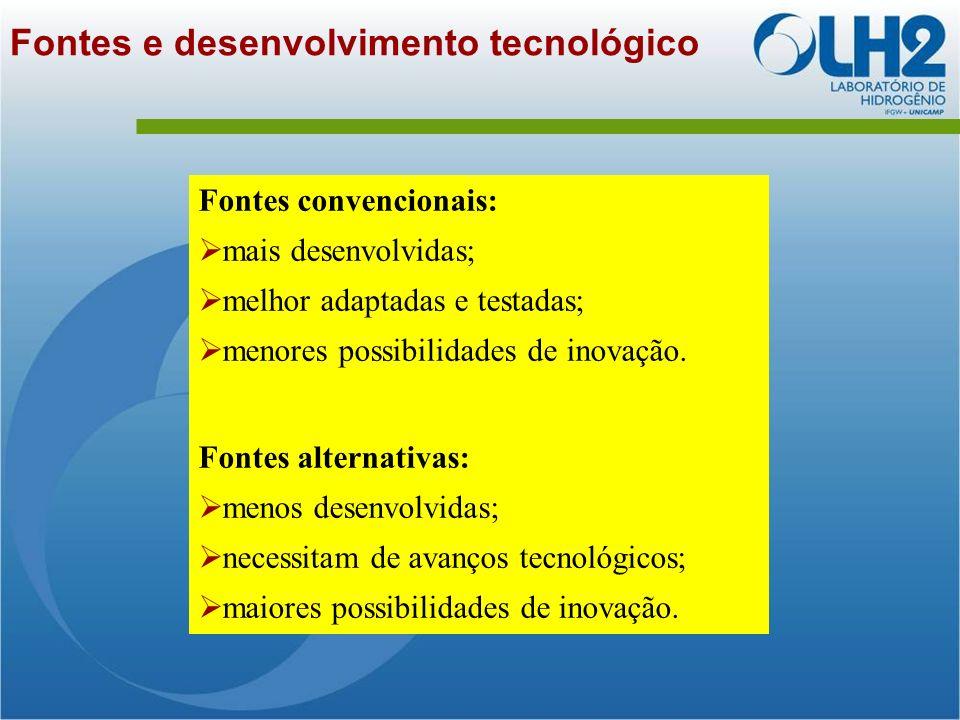 Fontes e desenvolvimento tecnológico