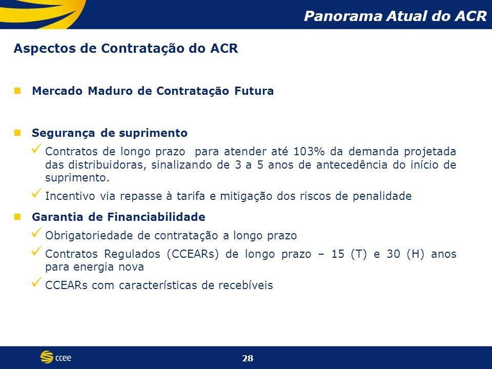 Panorama Atual do ACR Aspectos de Contratação do ACR