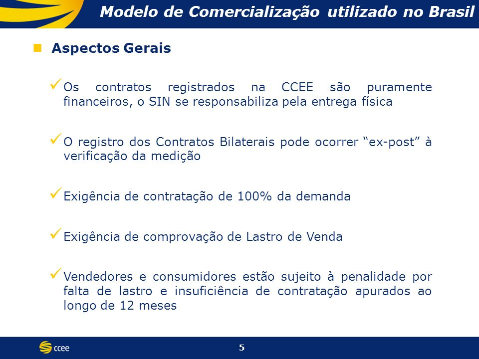 Modelo de Comercialização utilizado no Brasil