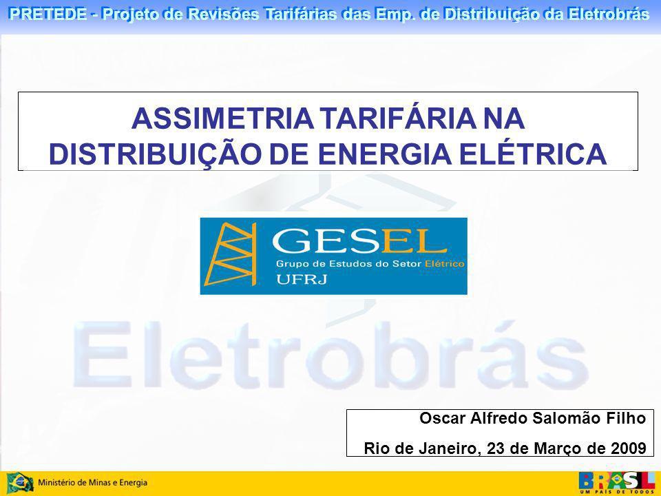 ASSIMETRIA TARIFÁRIA NA DISTRIBUIÇÃO DE ENERGIA ELÉTRICA