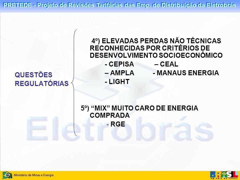 4º) ELEVADAS PERDAS NÃO TÉCNICAS RECONHECIDAS POR CRITÉRIOS DE DESENVOLVIMENTO SOCIOECONÔMICO