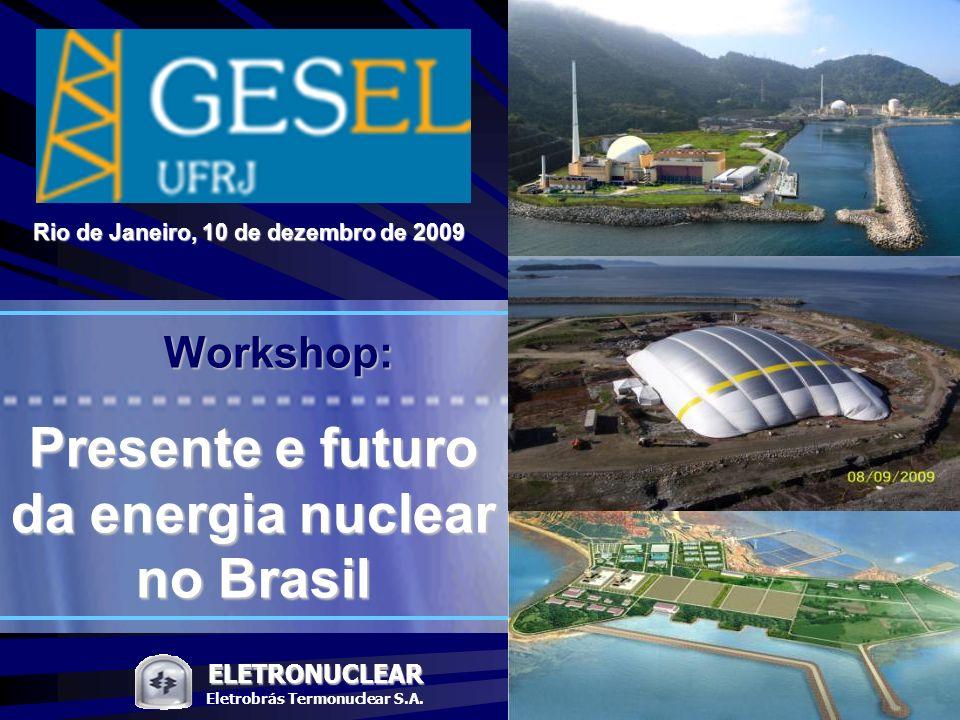 Rio de Janeiro, 10 de dezembro de 2009 Eletrobrás Termonuclear S.A.