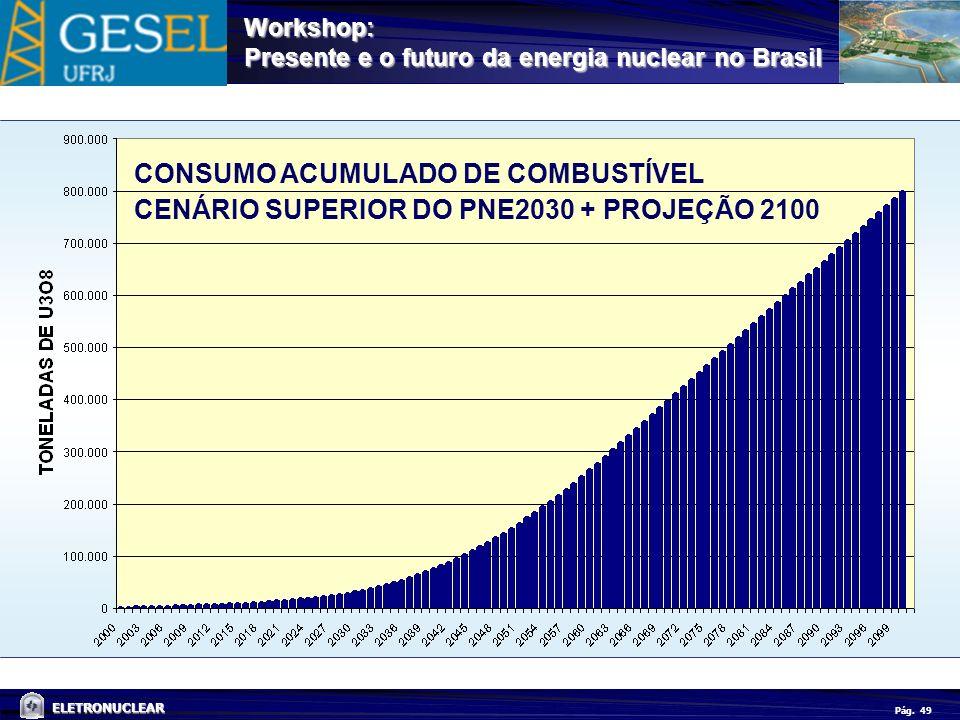 CONSUMO ACUMULADO DE COMBUSTÍVEL CENÁRIO SUPERIOR DO PNE2030 + PROJEÇÃO 2100