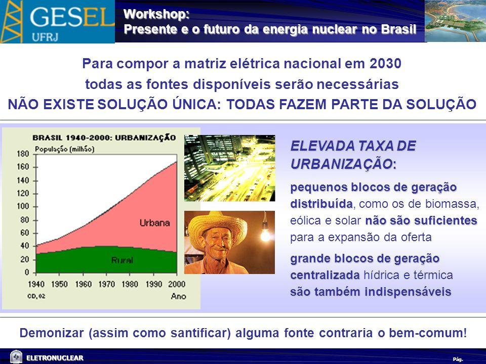 Para compor a matriz elétrica nacional em 2030