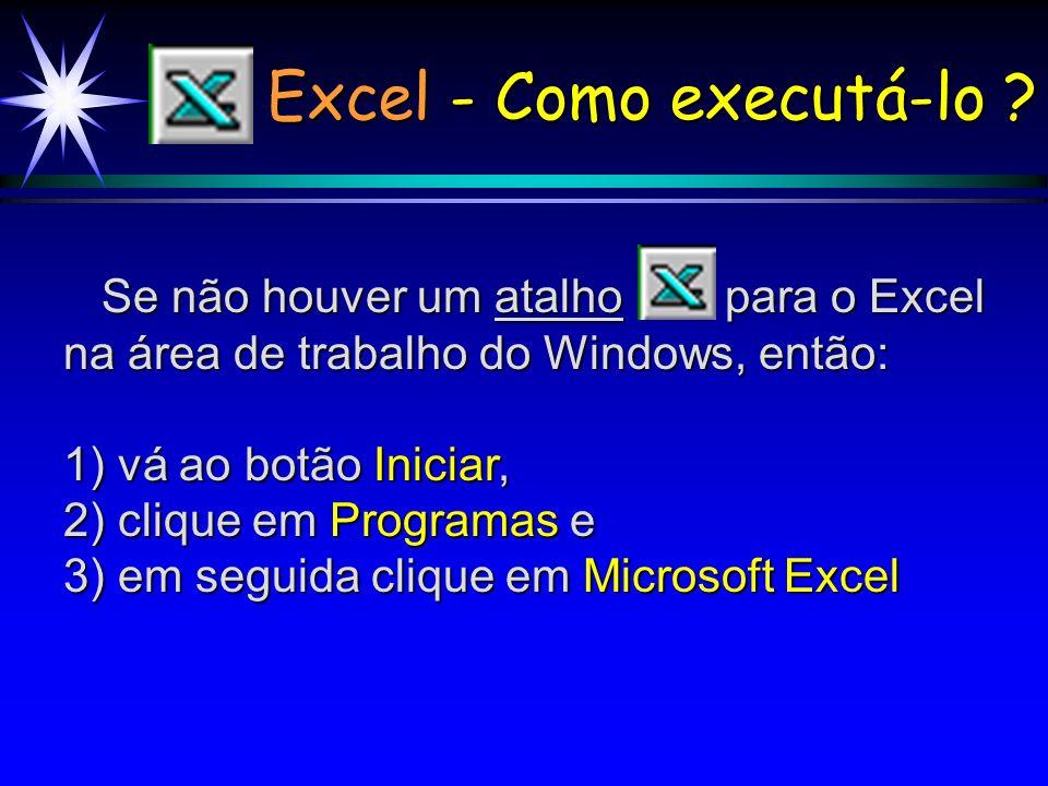 Excel - Como executá-lo