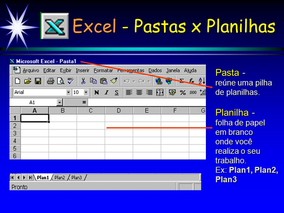Excel - Pastas x Planilhas