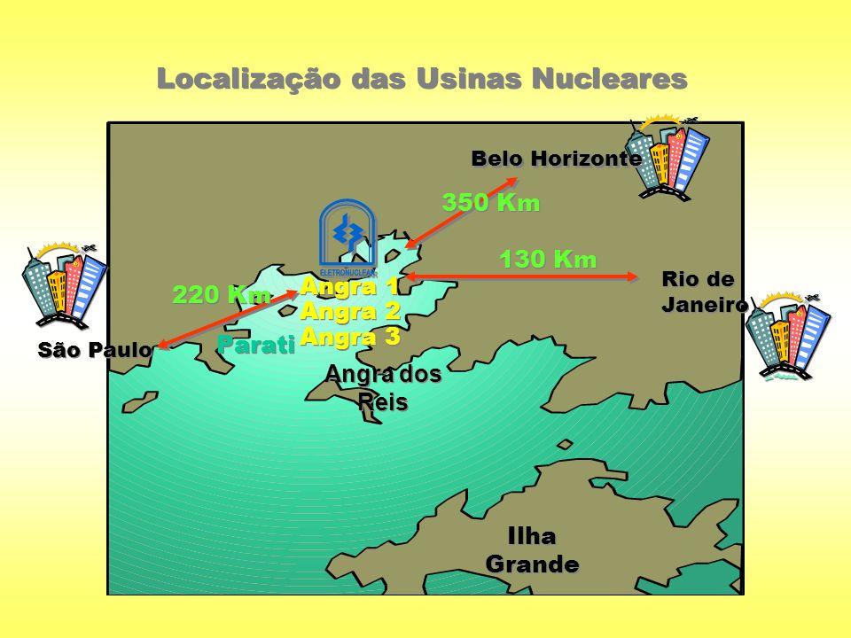 Localização das Usinas Nucleares