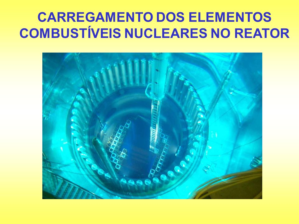 CARREGAMENTO DOS ELEMENTOS COMBUSTÍVEIS NUCLEARES NO REATOR