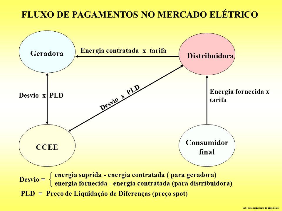 FLUXO DE PAGAMENTOS NO MERCADO ELÉTRICO