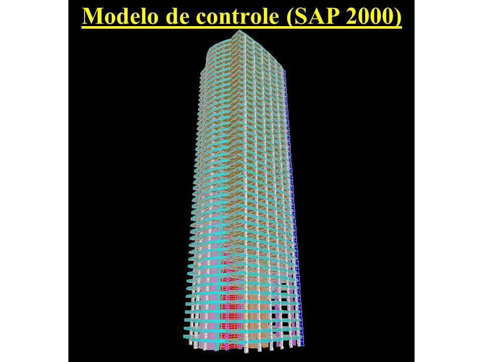 Modelo de controle (SAP 2000)