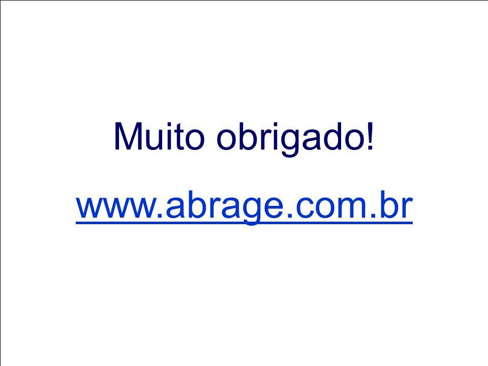 Muito obrigado! www.abrage.com.br