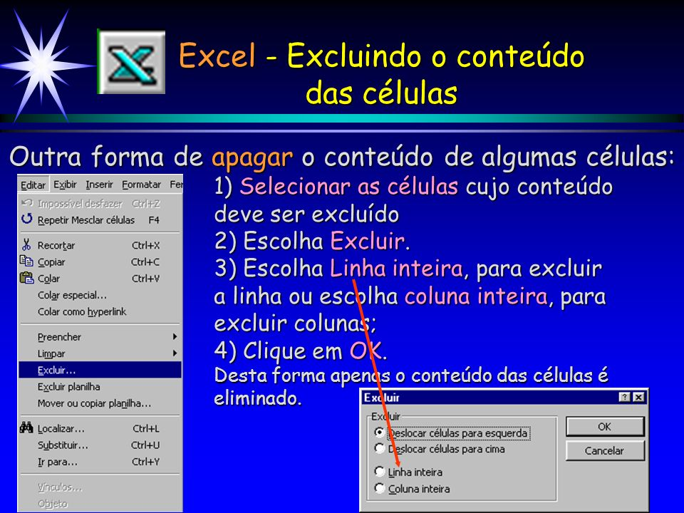 Excel - Excluindo o conteúdo
