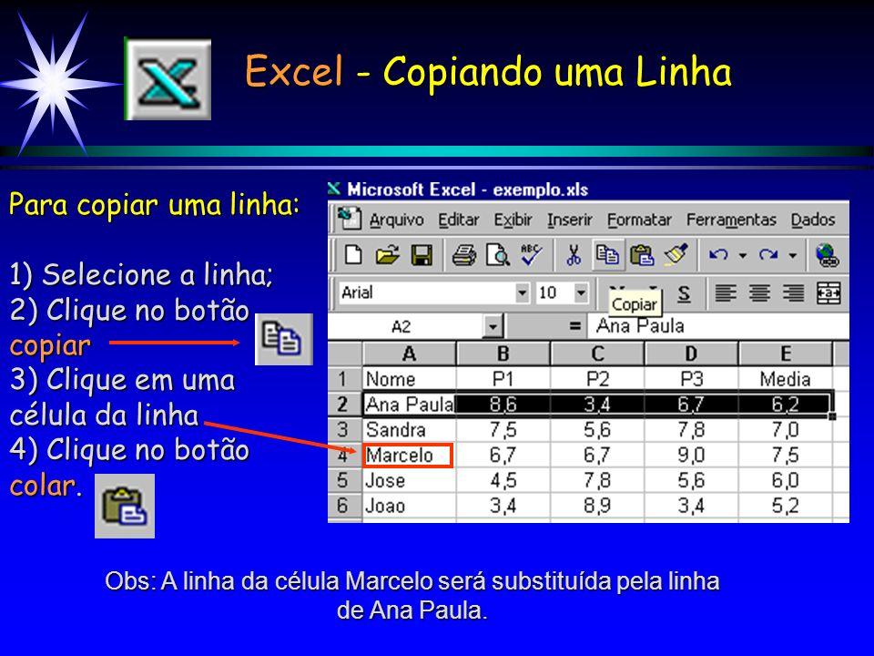 Excel - Copiando uma Linha