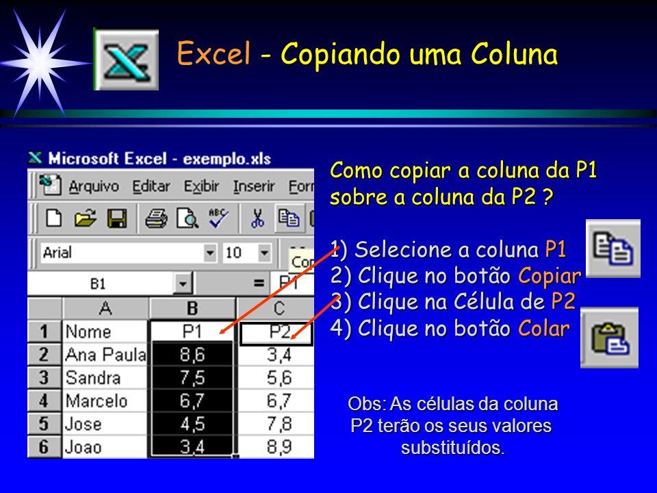 Excel - Copiando uma Coluna