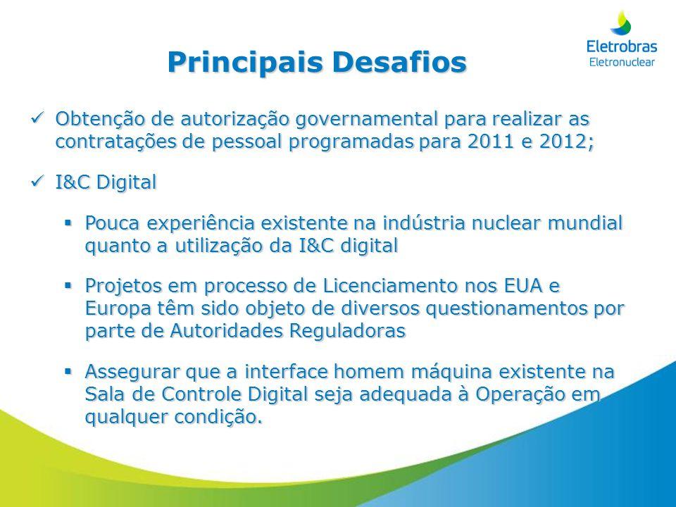 Principais DesafiosObtenção de autorização governamental para realizar as contratações de pessoal programadas para 2011 e 2012;