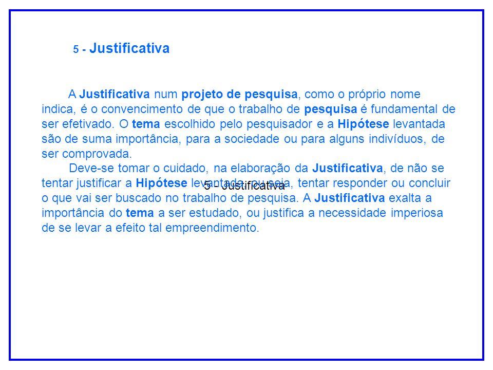 5 - Justificativa