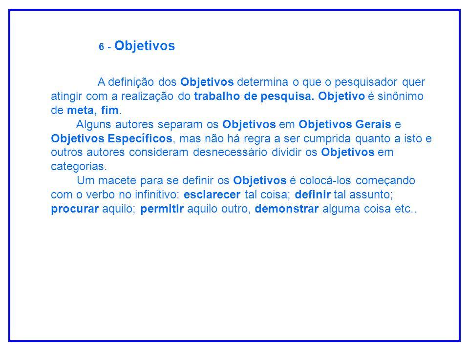 6 - Objetivos