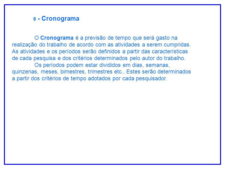 8 - Cronograma