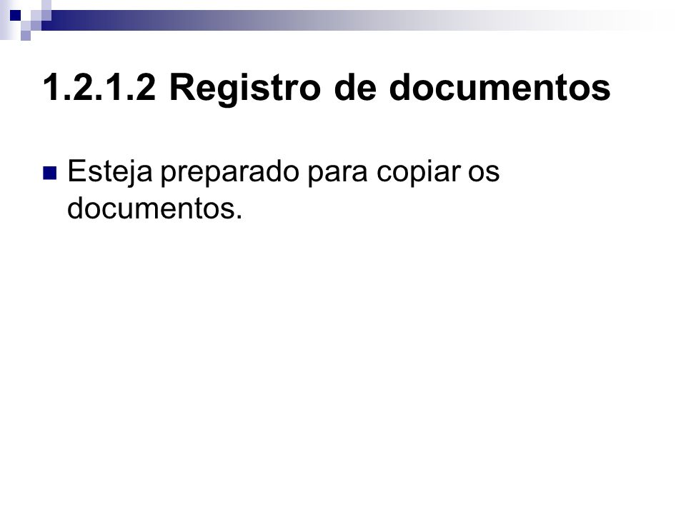 1.2.1.2 Registro de documentos